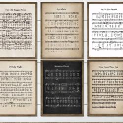 Vintage Hymn Prints Large