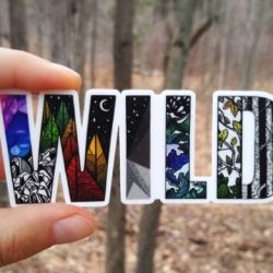 Wild Slice Sticker for Outdoor Gifts