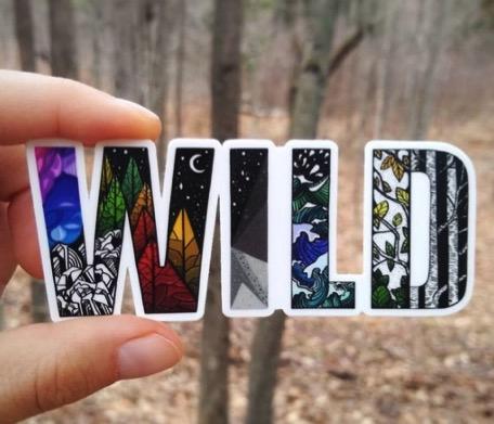 Wild Slice Sticker for Outdoor Gifts