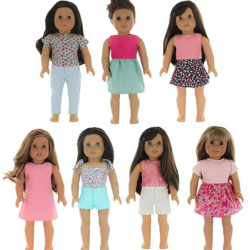 Doll Clothing Set of 7 Outfits