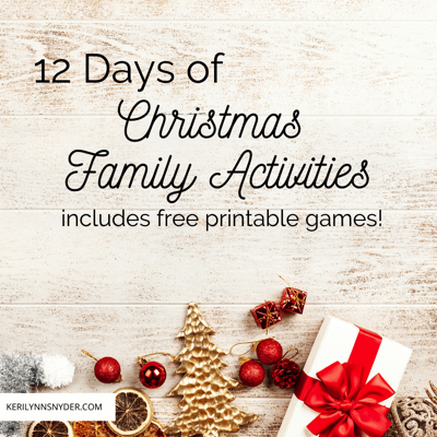 Free Printable Christmas Family Activities