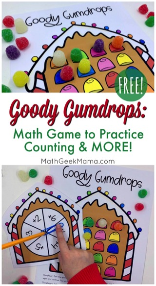 Free Printable Gingerbread Counting Game