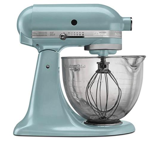 KitchenAid Blue with Glass Bowl