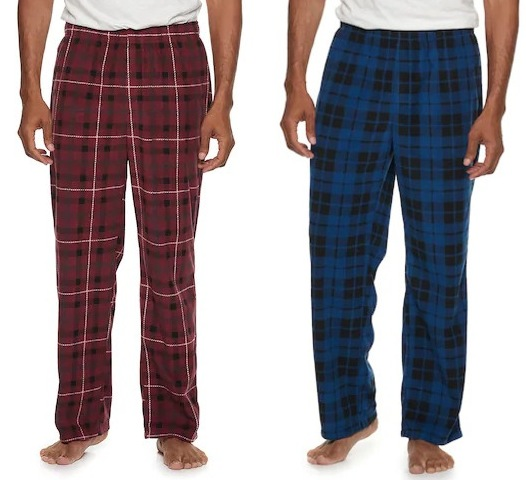 Men's Croft & Barrow Festive Microfleece Sleep Pants