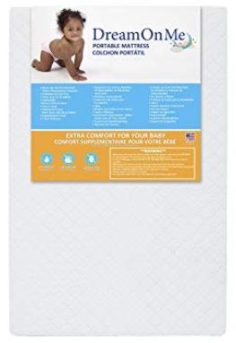 "Dream On Me 3"" Extra Firm Portable Crib Mattress"