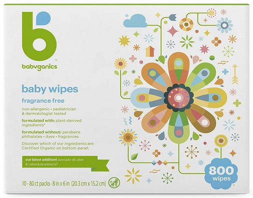 Babyganics Baby Wipes, Unscented