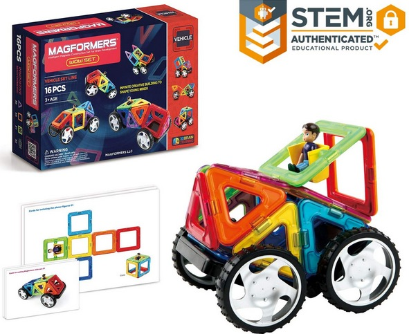 Magformers Vehicle Wow Set (16-pieces)