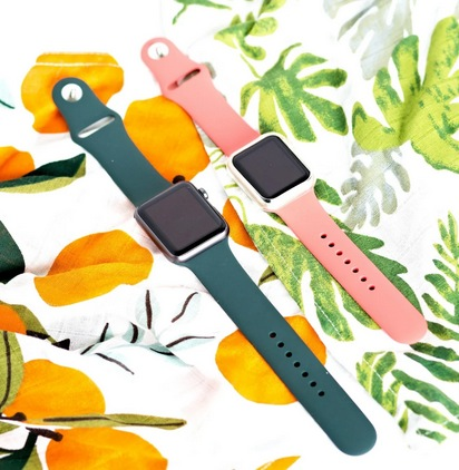 2 Pack Silicone Watch Bands
