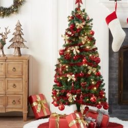 Holiday Time 5′ Pre-Lit Christmas Trees with Decorations – Only $24
