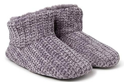 Dearfoams Women's Chenille Bootie Slipper