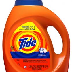 Tide Laundry Detergent Liquid, Original Scent, HE Turbo Clean, 100 Fl Oz