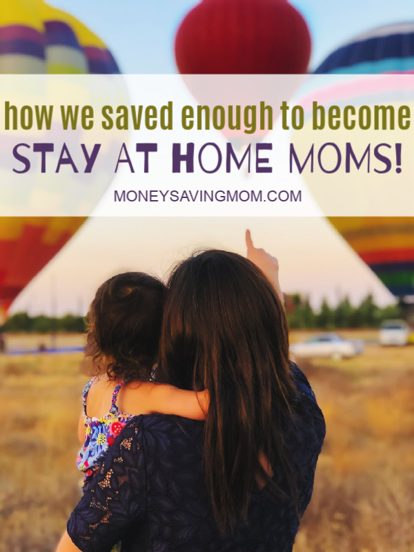 how to afford being a stay at home mom