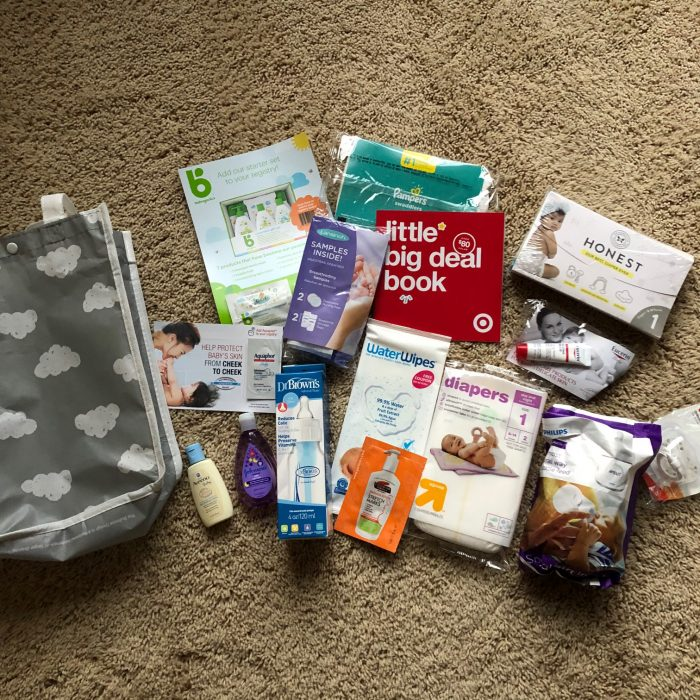 what's in the Target baby registry gift bag
