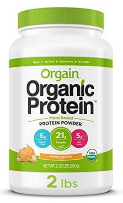 Orgain Organic Plant Based Protein Powder, Peanut Butter