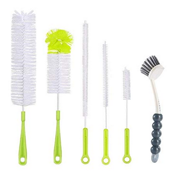 6Pcs Bottle Cleaning Brush Set