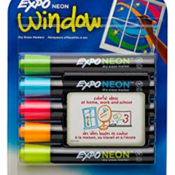EXPO Neon Dry Erase Markers (5 count)