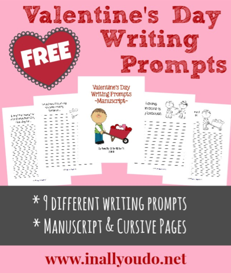 Free Valentine's Day Writing Prompts