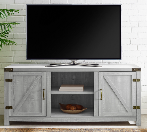 Manor Park Modern Farmhouse Barn Door TV Stand