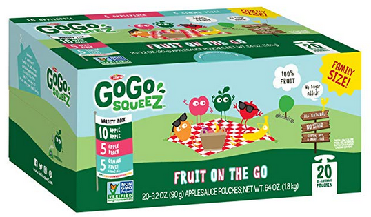 GoGo squeeZ Applesauce on the Go, Variety Pack