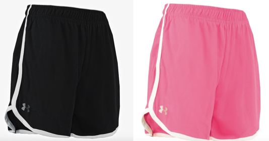 Under Armour Women's Heatgear Running Shorts just $6.25 each!
