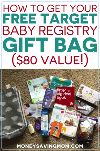 how to get your free Target Baby Registry Gift Bag