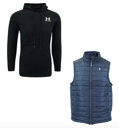 Men's Under Armour Sweatshirt & IZOD Vest Combo Set