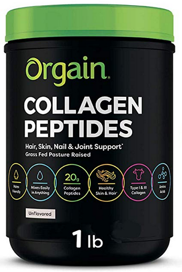 Orgain Grass Fed Hydrolyzed Collagen Peptides Protein Powder