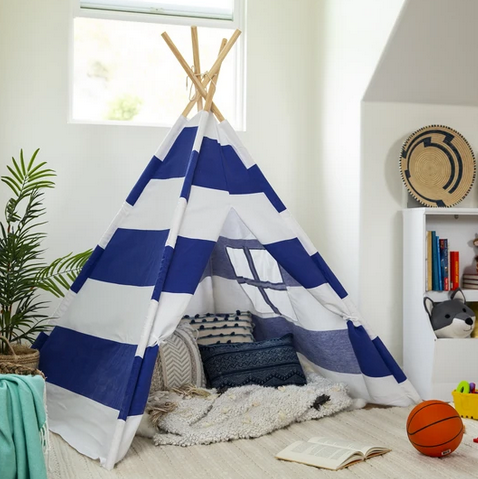 Kids Pretend Cotton Teepee Play Tent