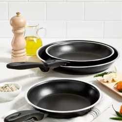 "Tools of the Trade 8"", 9"" & 11"" Fry Pan Set"