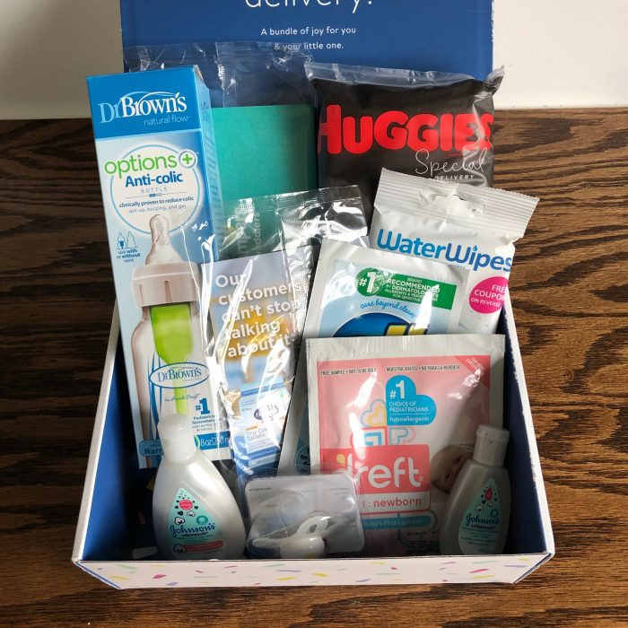baby samples in a box