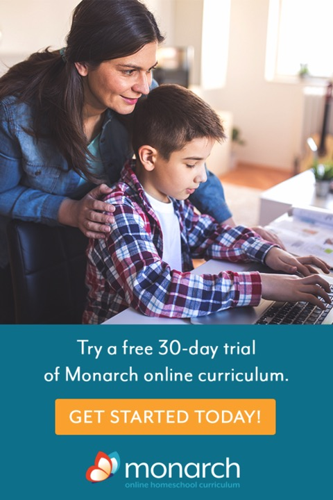 Sign up for a free trial to Monarch Homeschool