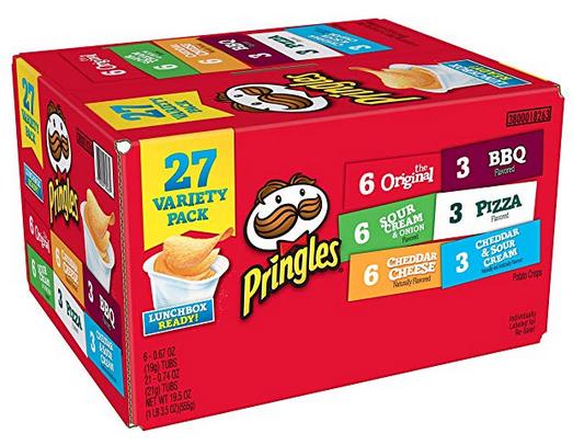 Pringles Snack Stacks Potato Crisps Chips