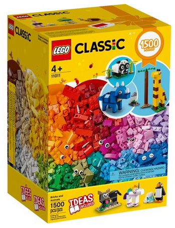 LEGO Classic 1,500-Piece Animals Set