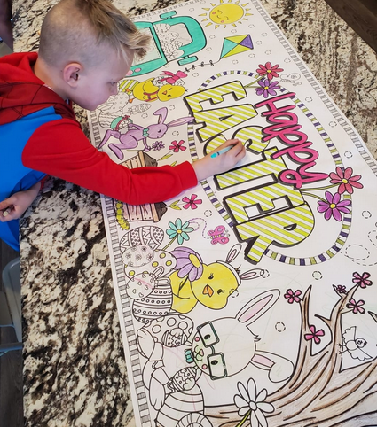 Easter Giant Table Top Coloring Pages