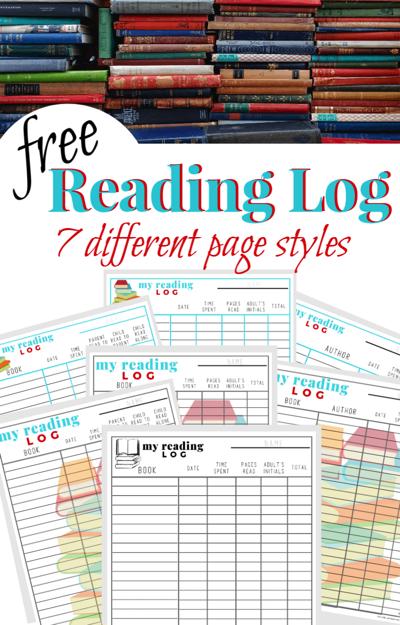 Free Kids Reading Log