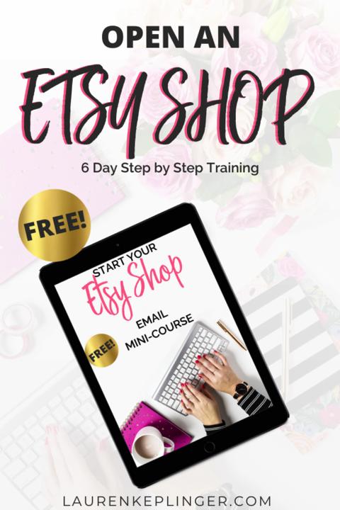 How to Open An Etsy Shop eCourse