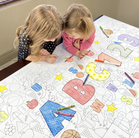 Table Top Paper Coloring Banners