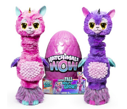 Hatchimals WOW, Llalacorn 32-Inch Tall Interactive Hatchimal with Re-Hatchable Egg