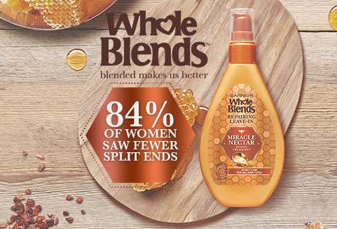 Free Garnier Whole Blends Miracle Nectar Haircare Sample