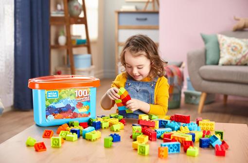 100-Piece Mega Bloks Mini Bulk Small Tub