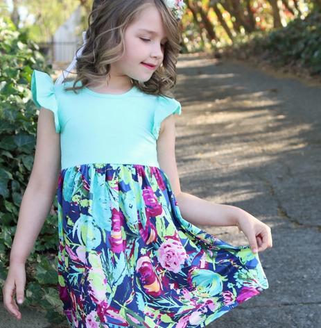 Flutter Floral Dress