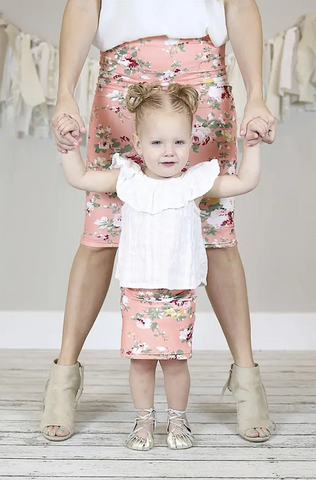 Mommy and Me Spring Floral Skirts