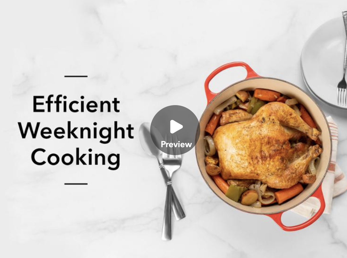 efficient weeknight cooking class