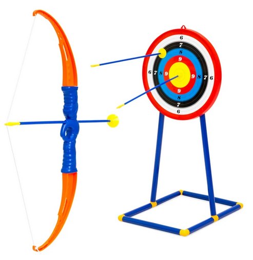 Kids Archery Bow and Arrow Toy Play Set w/ 3 Suction-Cup Arrows
