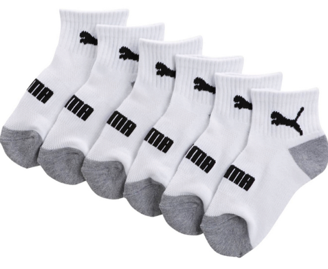 PUMA Socks 6-Pack as Low as $3.99