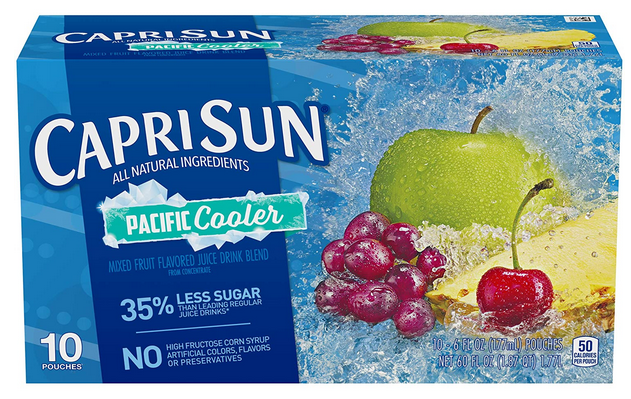 Capri Sun Pacific Cooler Mixed Fruit Flavored Juice Drink Blend