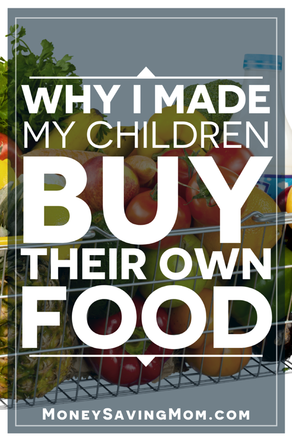 children buy their own food