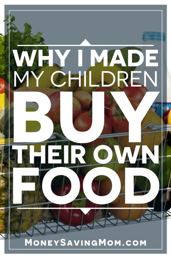 children buy their own food