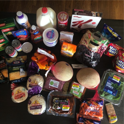 big grocery trip