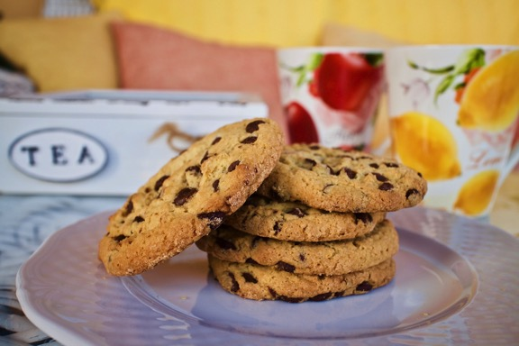gluten-free chocolate chip cookies on plate